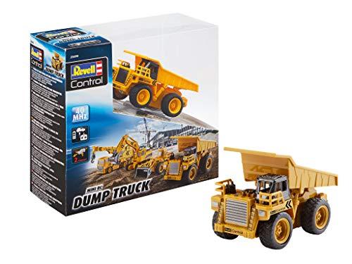 RC Auto kaufen Baufahrzeug Bild: Revell Control 23495 RC Baufahrzeug Kipplaster ferngesteuertes Auto, gelb-orange, Länge: ca. 10 cm*