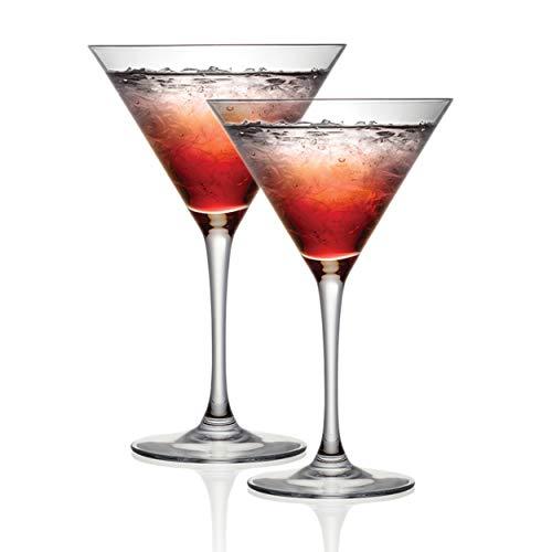 Cristal D'Arques P506388 - Set di 2 bicchieri da cocktail, 300 ml, perfetti per cene e occasioni speciali, resistenti alle scheggiature e lavabili in lavastoviglie