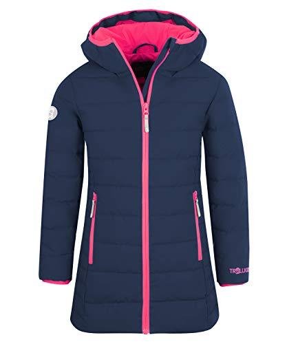 Trollkids Mädchen Wintermantel Winterjacke Stanavanger, Marineblau / Pink, Größe 128