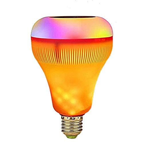 LILICEN Inicio LED del bulbo E26 / E27 música LED Bombilla 18 vatios de recambio equivalente 180W lámpara halógena RGB inalámbrica Bluetooth Audio Home Ambiente decorativos de luz LED con control remo