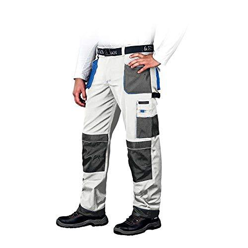 Leber&Hollman LH-FMN-T_WSN50 Formen Schutzhose, Weiß-Grau-Blau, 50 Größe