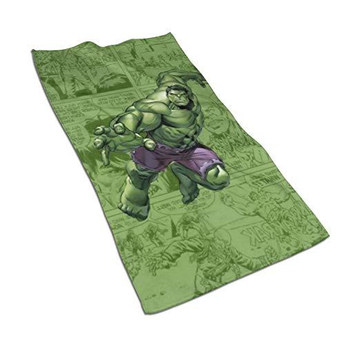 hulili Toalla de mano Hulk de dibujos animados de secado rápido, toalla de microfibra súper suave, extra absorbente para baño, spa y gimnasio, 27.5 x 15.7 pulgadas