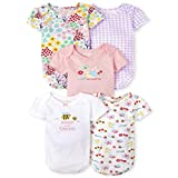 The Children's Place Baby Girls' Bodysuit, Pack of Five, White, 0-3MONTHS