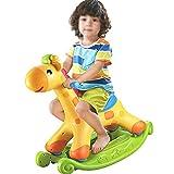Kibten Caballo de oscilación colorido cervatillo ciervos plástico del bebé paseo de los niños en el juguete del niño interior al aire libre juguete Balancín infantil juguete Paseo de Cuarto de niños y