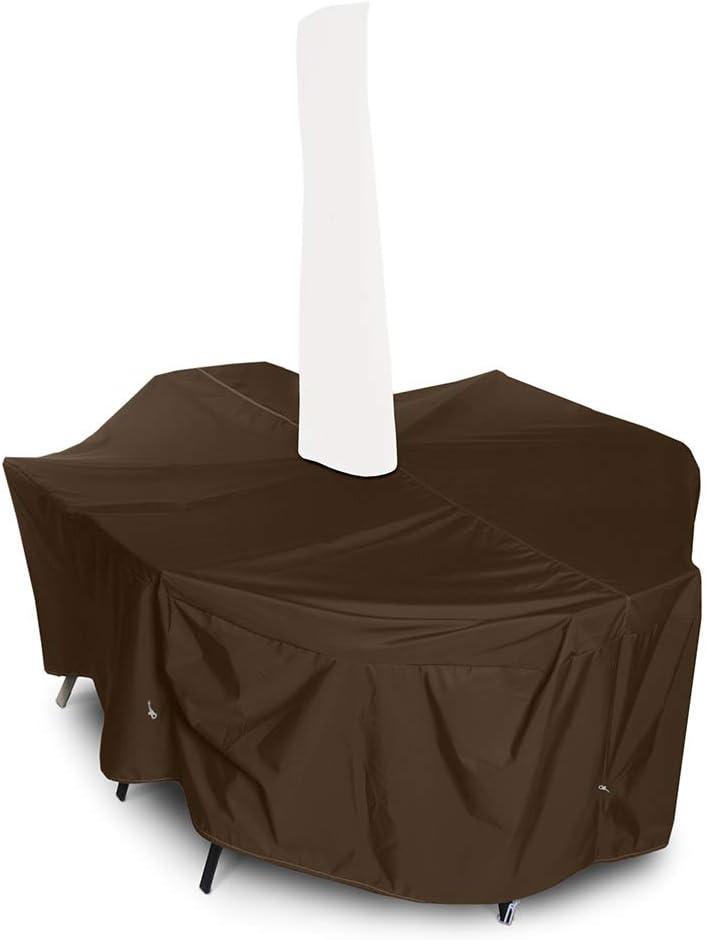 mart Bargain KOVERROOS Medium Rectangular Dining Set Hole Umbrella Cover w