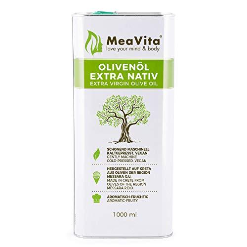 MeaVita Olivenöl, extra nativ & kaltgepresst, 1er Pack (1x 1000ml) im Kanister