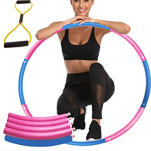 Koyasiry Weighted Exercise Hoop for Adults, Detachable Design Only $9.99 (Retail $14.99)