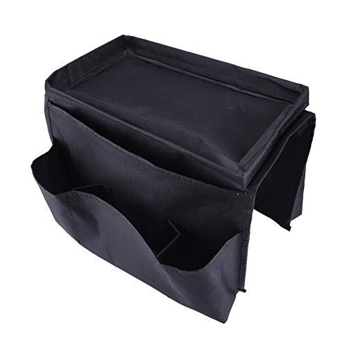 N\C Organizador de reposabrazos de sofá para PC con Bandeja 12x7,2x8,3 Pulgadas Bolsa de Almacenamiento para reposabrazos de sofá 6 Bolsillos Bolsa Colgante de Almacenamiento para sofá