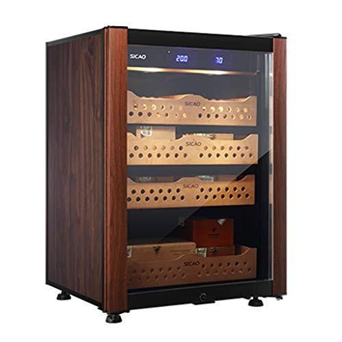 Zigarren-Zubehör Intelligenter Zigarrenschrank Haushaltszigarrenschrank Zedernholz-Massivholzkühlschrank Feuchtigkeitsspendender Zigarrenschrank Konstante Temperatur Und Luftfeuchtigkeit