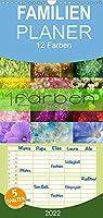 12 Farben Kunst und Kueche - Familienplaner hoch (Wandkalender 2022 , 21 cm x 45 cm, hoch): 12 Farben begleitet Sie durch das Jahr mit 12 der schoensten Farben der Natur (Monatskalender, 14 Seiten )