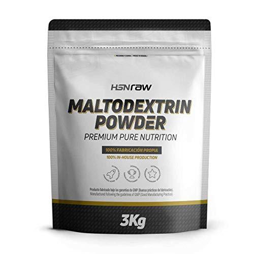 Maltodextrina de HSN Raw | Carbohidrato de Alto Índice Glucémico, Ideal para la Carga de Carbohidratos, Combinar con Batidos de Proteína Post-Entreno, Vegano, Si Gluten, Sin Lactosa, Sin Sabor, 3Kg …