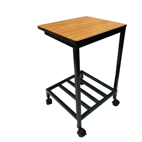 PP Chair Office Home Double Inverter-Battery Trolley Stand in 1inch Pipe (Movable Trolly) with Height 24 inch (Trolly Suitable for All Type Inverter-Batteries) with Wheels and Wooden Shelf ON TOP