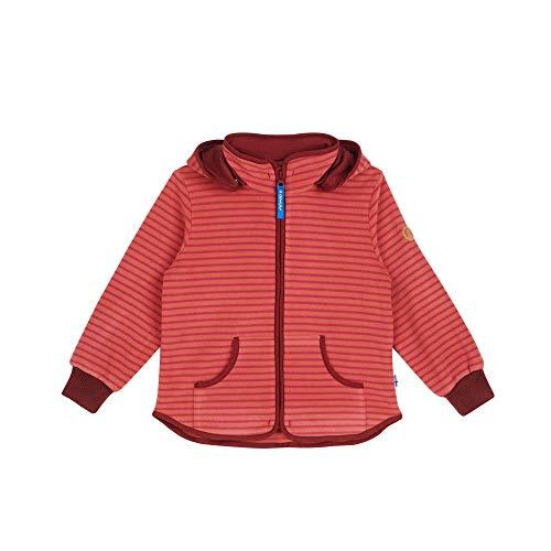 Finkid Tonttu Striped Gestreift-Rot, Kinder Freizeitjacke, Größe 110-120 - Farbe Rose - Cabernet
