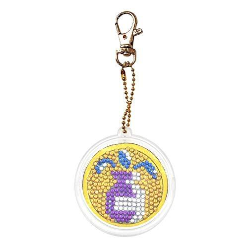 Gems stenen sterrenbeeld DIY strass kristal sleutelhanger volledige boor diamant schilderij sleutelhanger vrouwen tas hangers ornamenten handgemaakte geschenken