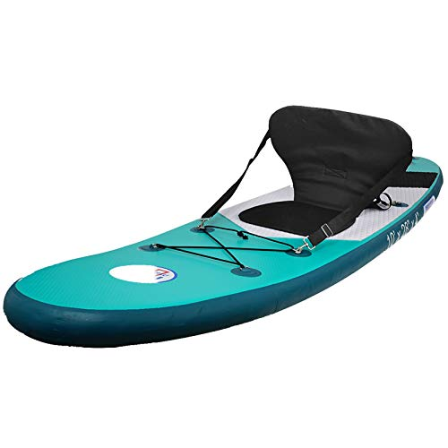 Promarine Inflatable Stand Up Paddle Board Premium SUP Accessories & Backpack, Non-Slip Paddle Board, Leash, Paddle, Waterproof Backpack,Kayak Seat, Hand Pump, and Repair kit 120 Long 28 Wide 4 Thick