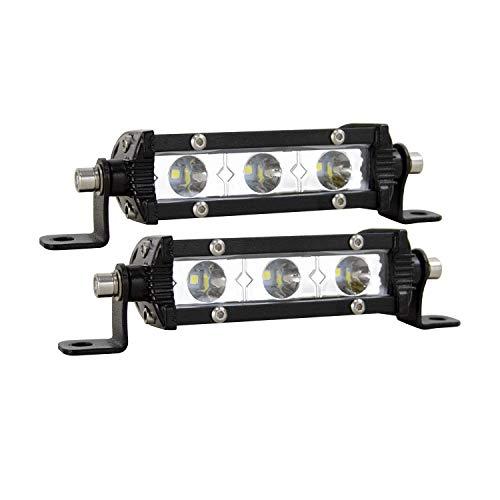 SKYWORLD Led Arbeitsscheinwerfer, 2 Stücke 4 Zoll 15W einreihige LED Lichtleiste Low Profile Spot Scheinwerfer für Auto Offroad PKW LKW Anhänger 4x4 SUV ATV Rückfahrscheinwerfer Kaltweiß
