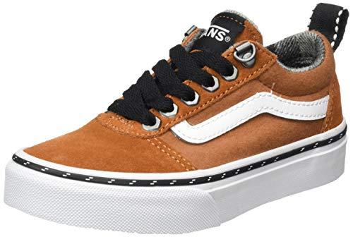 Vans Jungen Ward Suede/Canvas Sneaker, (Outdoor) Glazed Ginger/White, 29 EU