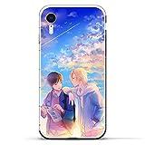Clear Silicone TPU Matte Anti-Shock Coque Cover Case for Apple iPhone XR-Banana-Fish Aslan-Jade Okumura-Eiji 9