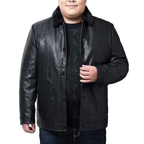 Chaqueta de plumón para hombre, cálida, suelta, gruesa, cálida, impermeable, para adultos y estudiantes, parkas grandes y altos (color: negro, talla: XXXL)