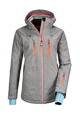 Killtec Damen Savognin WMN Ski Jckt B Funktionsjacke Mit Abzippbarer Kapuze Und Schneefang, Graumelange, 36