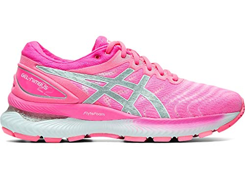 ASICS Women's Gel-Nimbus 22 Running Shoes, 6M, HOT Pink/Pure Silver