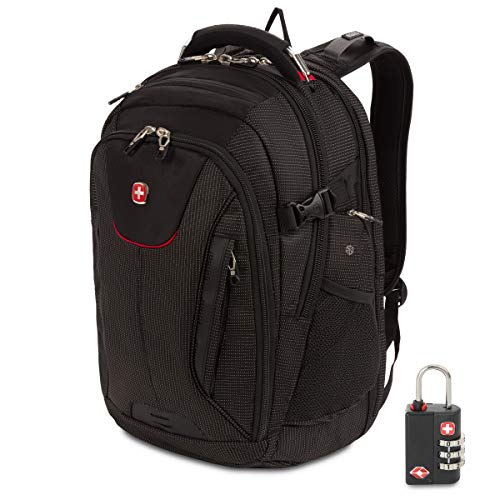 SWISSGEAR 5358 ScanSmart Laptop Backpack, Fits 15 Inch Laptop, USB Charging Port