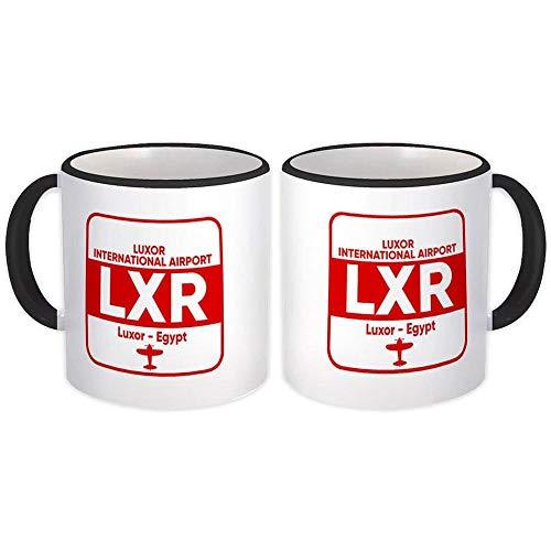 Egipto Luxor Aeropuerto Luxor LXR : Regalo Jarra : Aerolínea Tripulación de viaje Código Piloto AEROPUERTO
