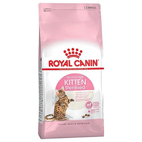 4x 400g Royal Canin Kitten Sterilised Cat food venduto...