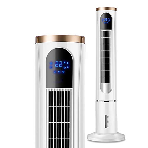 WSYK Ventilador De Torre Silencioso Vertical Humidificación De Control Remoto Ventilador con 80 ° Oscilación/Arriba Y Abajo Doble Tanque De Agua / 3 Velocidades/Temporizador 15H
