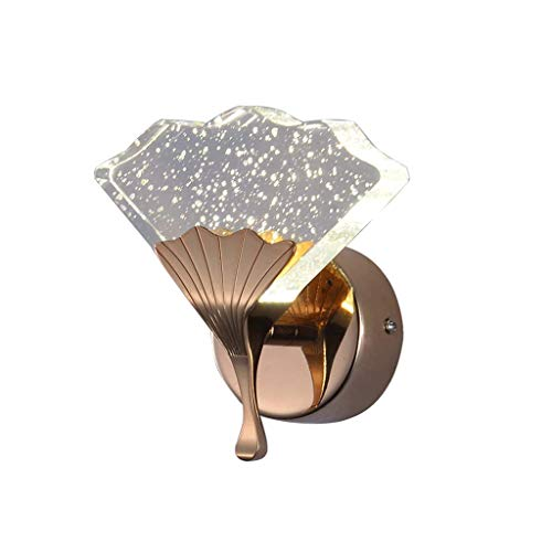 GAOJINXIURZ Aplique de Pared LED Lámparas de Pared,Aplique de Pared Industrial Vintage Interior Lámpara Pared Madera,Dormitorio, Cocina, Restaurante, Café, Pasillo (Size : 14CM)