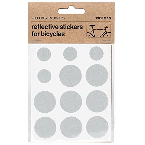 Bookman Sticky Reflectors Reflektierende Sticker, Weiß, One-Size