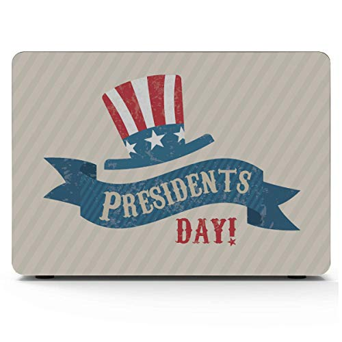 MacBook Pro Laptop Cover Presidents Day USA Flag Hat Decor MacBook Case Hard Shell Mac Air 11'/13' Pro 13'/15'/16' with Notebook Sleeve Bag for MacBook 2008-2020 Version
