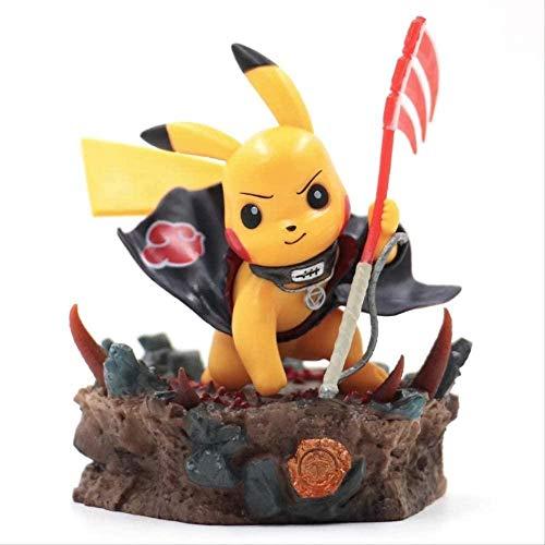 KIJIGHG Pokemon Toy Pikachu Figura de accion Ninja Anime Cosplay Pocket Monsters Poke Anime Figura Anime Personaje Modelo 11cm
