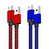 Micro USB Quick Charger Cable 2Pack 10FT Long Android Phone 2.1A Fast Charging Cord for Samsung Galaxy S7 S6 Plus/Edge/Active,J3 Luna Pro/Prime J7 Star/Crown,Note 5/4,LG Stylo 3 2 K30 K20,PS4 Pro