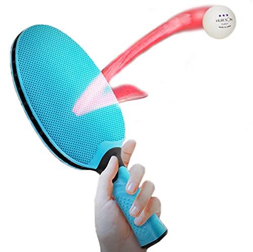 BMDHA Paletas De Ping Pong, Raqueta De Badminton Bola Resplandeciente Interior Paleta De Ping Pong, Fortalecer La Elasticidad Y La FriccióN. Entretenimiento para Padres E Hijos Capa De Silicona