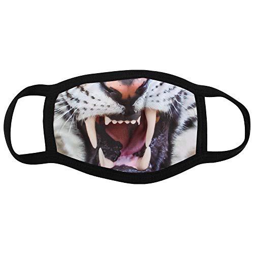 Shirt-Panda Stoffmaske mit Motiv · Maske mit wechselbarem PM2.5 Filter · Mundschutz mit lustigen Motiven und Mustern · waschbarer Mund- und Nasenschutz · Tiger