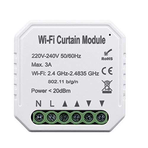 Yagosodee WiFi inteligente cortina interruptor módulo WiFi Smart Shutters temporizador interruptor inalámbrico control remoto para Roller Shutter Motor