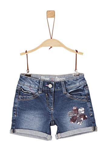 s.Oliver Junior s.Oliver Junior Mädchen 54.899.72.0463 Shorts, Blau (Blue Denim Stretch 56Z3), (Herstellergröße: 92/REG)