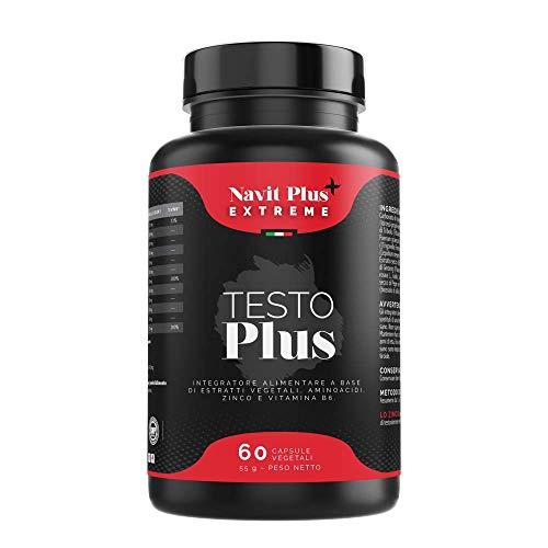 TESTOSTERONE EXTREME. Massima prestazione maschile. TESTOFEN + Ginseng, Zinco, Maca. Booster di testosterone. Aumenta la massa muscolare e l'energia. 60 capsule vegetali.