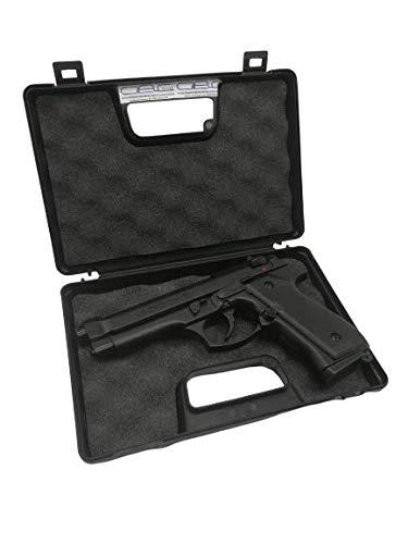 Glac Store14AVAR6 Custodia in Plastica Dura per Pistola Protettiva Interno Schiuma Facile da Trasportare Nera Universale Economica
