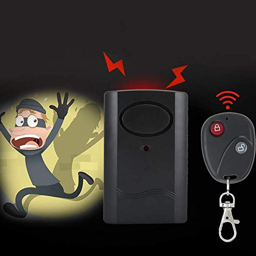 BJH Sensor de Alarma de Puerta, Sensor de Puerta antirrobo, 105db, tamaño pequeño para apartamento con función de Timbre de Puerta, Sistema de Seguridad para el hogar