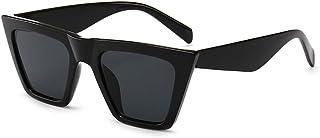 Vintage Small Sunglasses Retro Cateye Sunglasses for Women Men Square Frame