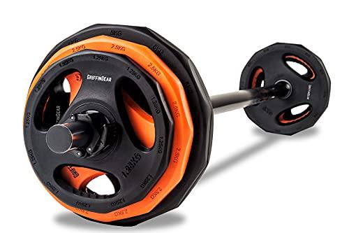 Barbell Weights Set 20kg, Adjustable Body Pump Weight Set