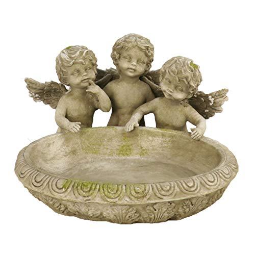 Gartenzaubereien Vogeltränke mit 3 Engeln