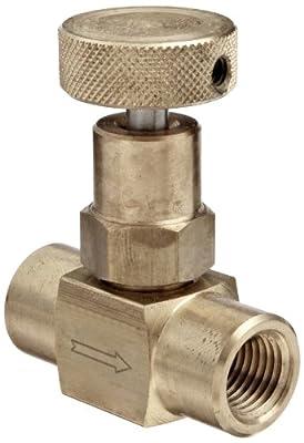"Dixon FFB102 Brass Mini Needle Valve, 1/4"" NPT Female from Dixon Valve & Coupling"