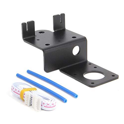Befenybay Placa de soporte para extrusora de doble engranaje con polea con motor paso a paso fácil de imprimir filamento flexible para impresora 3D Creality Ender3, CR10 (placa de soporte)