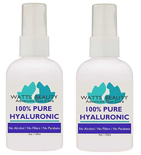 Anti Aging Wrinkle Serum of 100% Pure Hyaluronic Acid for Face - No Alcohol, No Parabens, Vegan & USA - Hyaluronic Levels Simply Decrease with Age Causing Sagging, Wrinkles, Dry Skin & Fine Lines 8oz