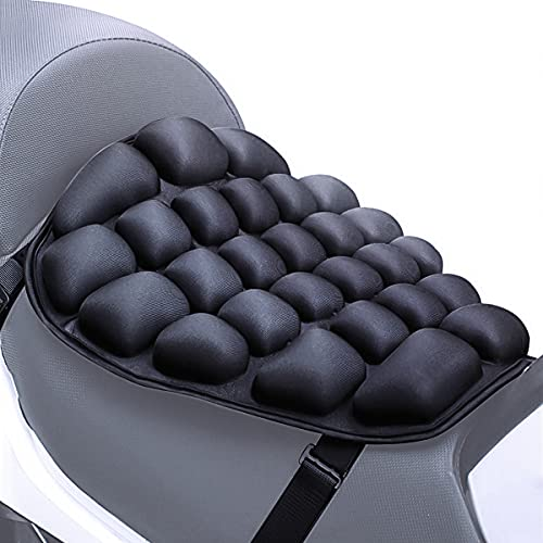 Auzkong Cuscino per Sella Moto, Aria Sedile Tampone Acqua Raffreddamento Cuscino Sedile per Selle Crociera Cruiser (38 X 35 cm per Autista)