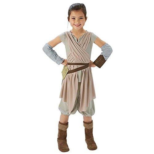 NET TOYS Kinder Rey Kostüm Star Wars Kinderkostüm L - 140 cm Jedi Faschingskostüm Starwars Verkleidung Jediritter Fantasy Karnevalskostüm Mädchen LARP Kleidung