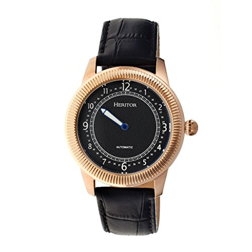Heritor Automatic Hoyt Leather-Band Watch -...